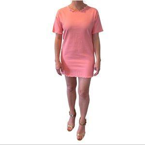 NWOT Tic Toc Pink Jean Mini Dress